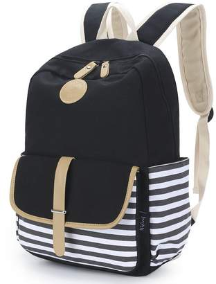 Upgraded Imyth Causal Canvas School Backpack Laptop Bag for Teen