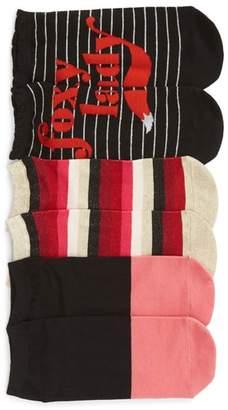 Kate Spade 3-Pack Foxy Lady No-Show Socks