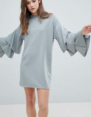 Glamorous Tiered Sleeve Dress