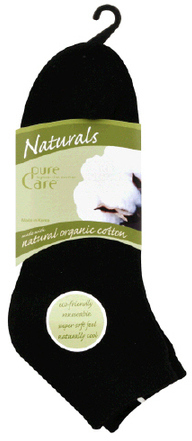 Pure Care Naturals Eco-Friendly Socks Black Ankle High