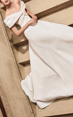 Carolina Herrera Bridal Harlow Off-The-Shoulder Gown
