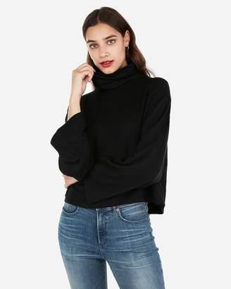 Express One Eleven Cropped Flared Sleeve Sweatshirt