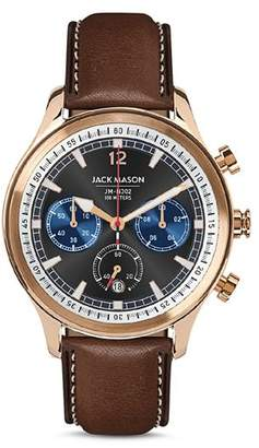 Jack Mason Black-Dial Nautical Chronograph, 45mm