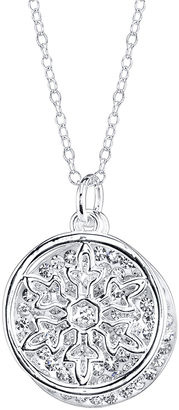 DISNEY Disney Frozen Crystal Silver-Plated Double-Charm Necklace $58 thestylecure.com