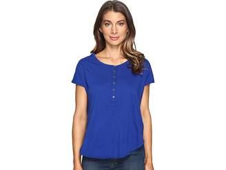 Mod-o-doc Supreme Jersey Short Sleeve Henley Tee Women's T Shirt