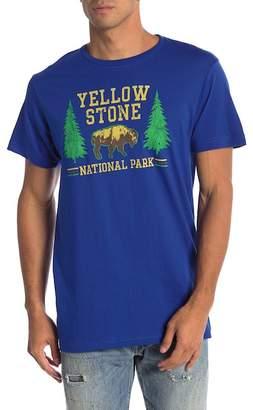 Body Rags Short Sleeve Yellow Stone Buffalo Tee