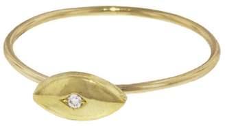 Jennifer Meyer Mini Evil Eye Ring - Yellow Gold