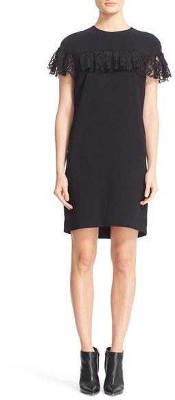 Women's Burberry Enzamf Lace Ruffle Shift Dress