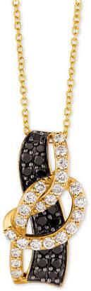"LeVian Le Vian Exotics® Diamond Loop 18"" Pendant Necklace (1 ct. t.w.) in 14k Gold"