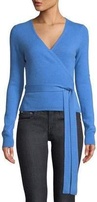 Diane von Furstenberg Ballet Wool-Cashmere Knit Wrap Cardigan