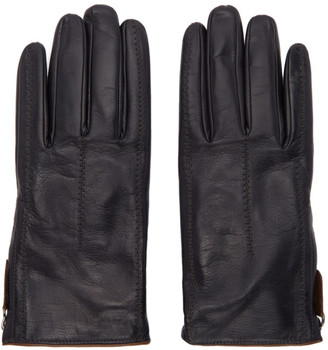 Giorgio Armani Black Leather Gloves