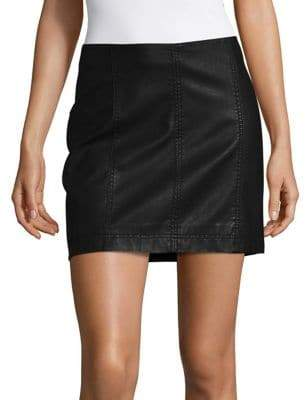 Free People Femme Vegan Mini Skirt