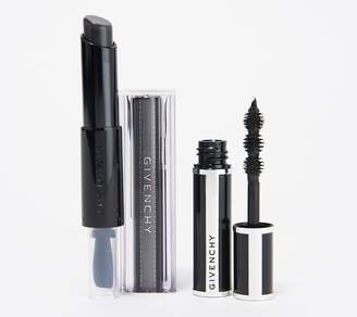Givenchy Black Lipstick and Mini Noir Couture Black Satin Mascara