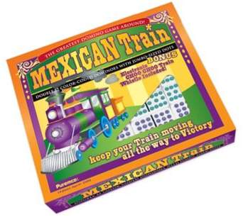 Puremco Professional Size Mexican Train Double 12 Color Dot Domino Set