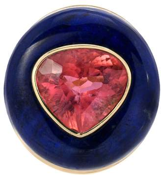 Lapis Retrouvaí One-Of-A-Kind and Pink Tourmaline Ring Pop Ring