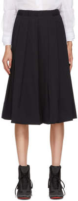 Comme des Garcons Navy Box Pleat Skirt