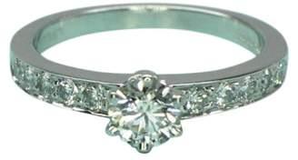 Tiffany & Co. Diamond 0.70ct Bead Set Platinum Ring Size 6