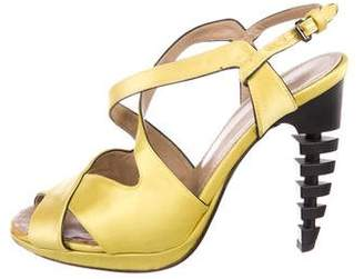 Proenza Schouler Satin Ankle Strap Sandals