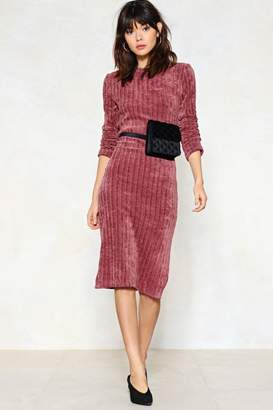 Nasty Gal Knitted Out Midi Dress