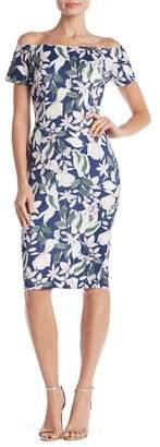 Alexia Admor Off-the-Shoulder Floral Print Dress