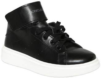 Moncler Nappa Leather High Top Sneakers
