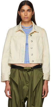 Eckhaus Latta Beige Cropped Denim Jacket