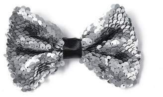 Topman Mens Silver Sequin Bow Tie*