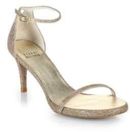 Naked Evening Lamé Sandals
