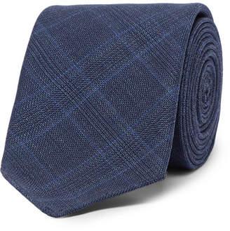 HUGO BOSS 6cm Prince of Wales Checked Virgin Wool Tie - Men - Navy