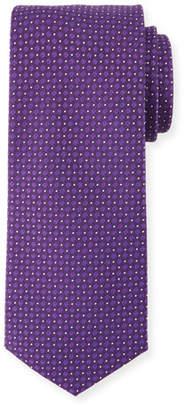 BOSS Textured Dot Silk Tie, Purple