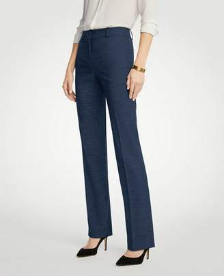 Ann Taylor The Petite Straight Leg Pant In Textured Stretch - Curvy Fit