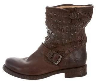 Frye Stud-Embellished Moto Ankle Boots