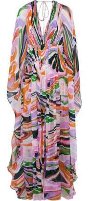 Emilio Pucci Printed Silk-Chiffon Maxi Dress