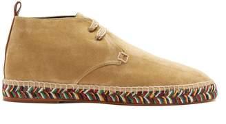 Loewe Espadrille-sole suede desert boots