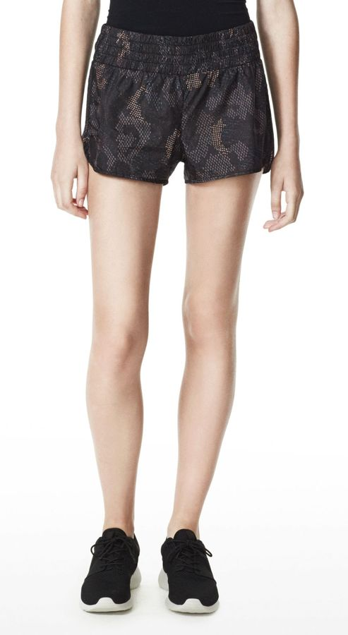 Theory Hye Short in Cylinder Printed Nylon