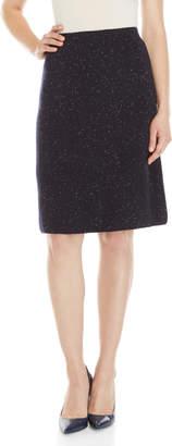 Mantu Navy Nep A-Line Skirt