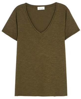 American Vintage Jacksonville Army Green Cotton-blend T