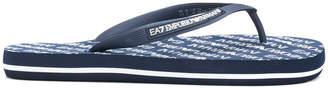 Emporio Armani Ea7 logo print flip flops