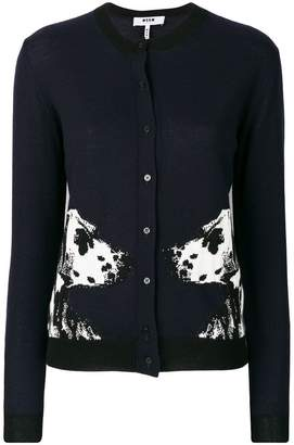 MSGM dog embroidered cardigan