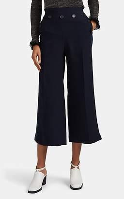 Derek Lam 10 Crosby Women's Denim-Inset Crop Wide-Leg Sailor Pants - Navy