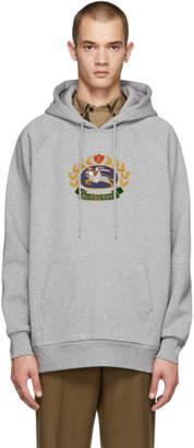 Burberry Grey Esker Crest Logo Hoodie