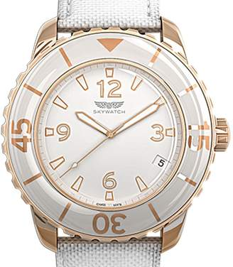 Skywatch Water-Resistant Rose Gold 38mm Three Hand Watch