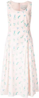 Carolina Herrera printed swallows dress