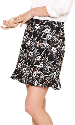 Oasis Tropical Flower Ruffle Skirt, Multi