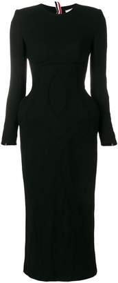 Thom Browne Wool Crepe Anatomical Body Con Dress