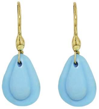 Ten Thousand Things Turquoise Teardrop Cut Stone Earrings - Yellow Gold