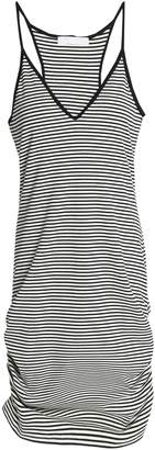 Kain Label Ruched Striped Ribbed-knit Mini Dress