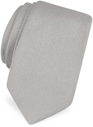 Forzieri Solid Twill Silk Narrow Tie