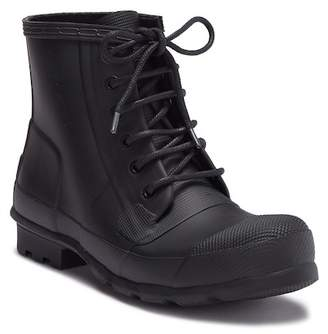 Hunter Rubber Lace-Up Boot
