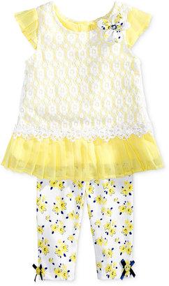 Nannette 2-Pc. Lace Floral Top & Leggings Set, Toddler & Little Girls (2T-6X) $38 thestylecure.com